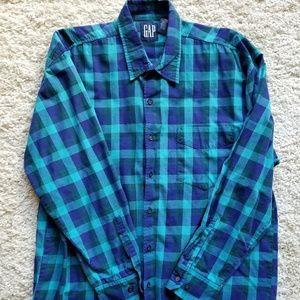 GAP Long Sleeve Plaid Button Up Casual Shirt